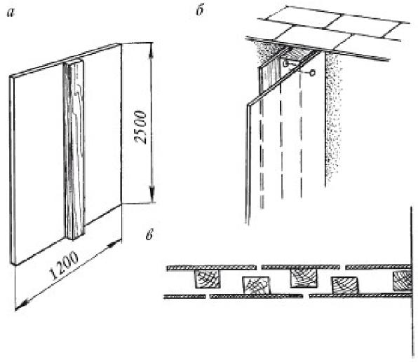 схема монтажа перегородки