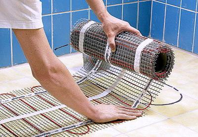 Как сделать эл теплый пол